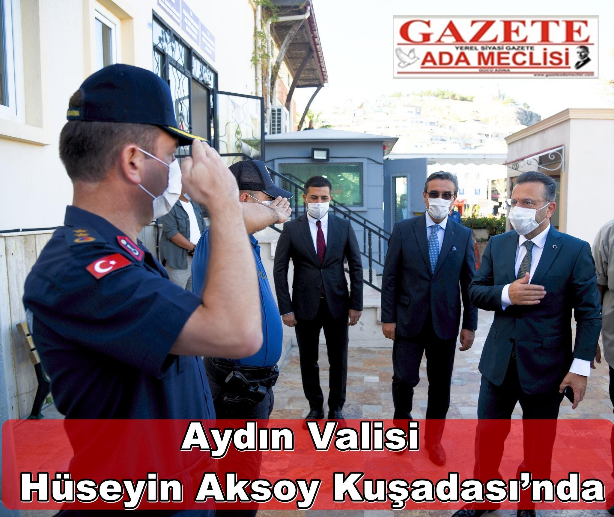 Aydın Valisi Hüseyin Aksoy Kuşadası'nda