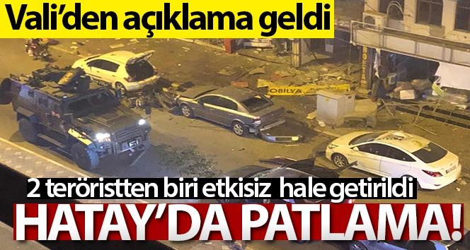 Hatay Valisi Doğan'dan İskenderun'daki patlamayla ilgili açıklama!