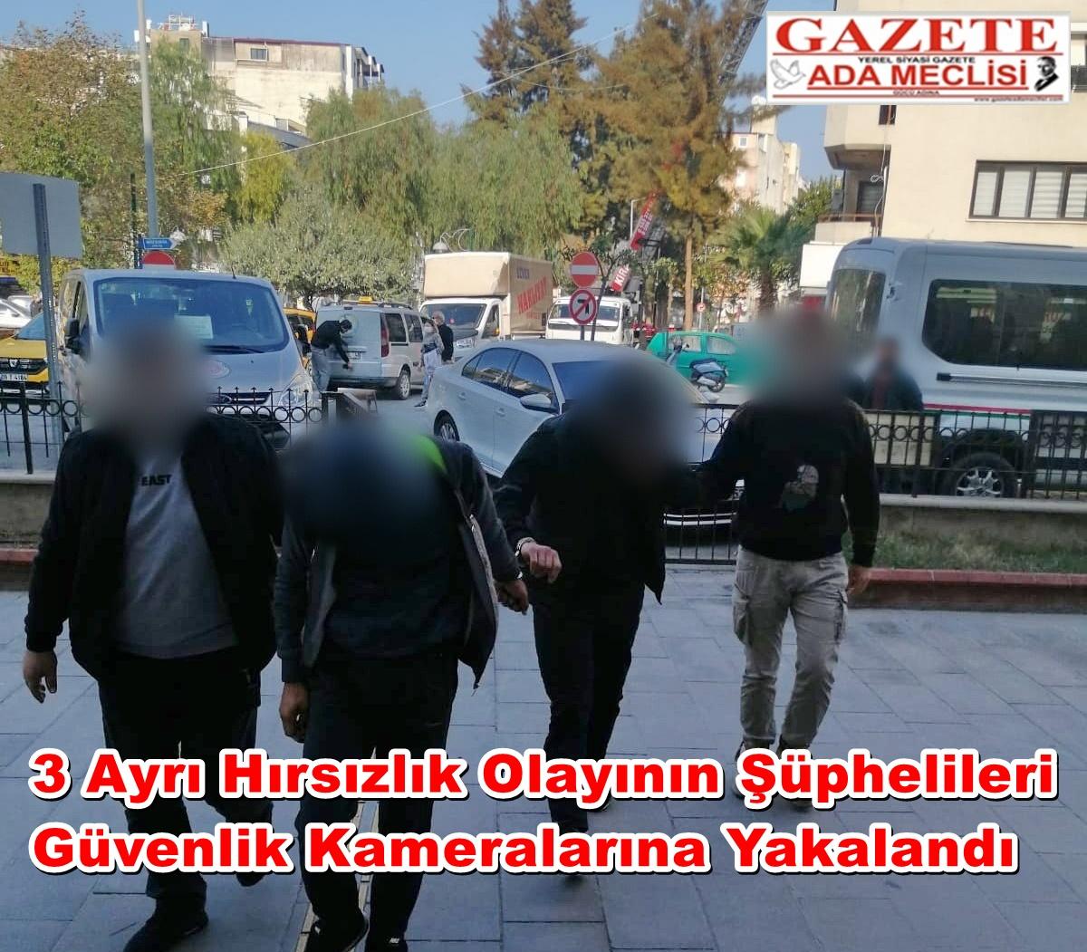 3 ayrı hırsızlık olayının şüphelileri güvenlik kameralarına yakalandı