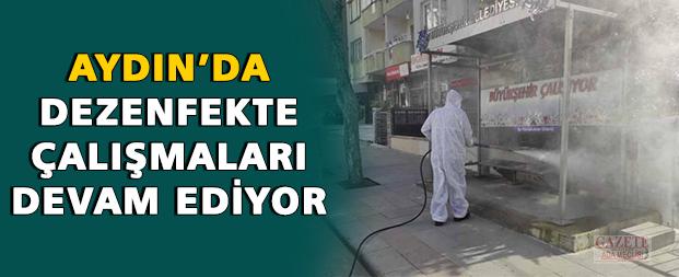 Aydın'da dezenfekte çalışmaları devam ediyor
