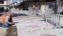 Kuşadası turistik çarşılarında yenileme çalışmaları devam ediyor