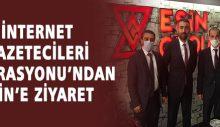 İnternet Gazetecileri Federasyonu'ndan Eşin'e ziyaret