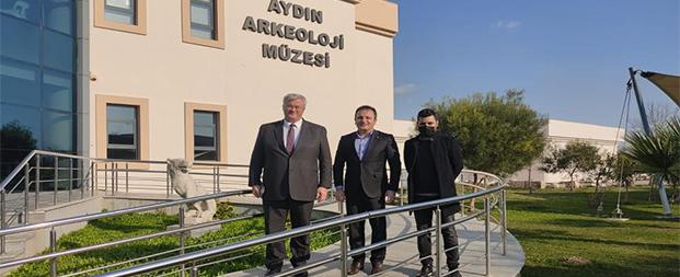 Ukrayna Ankara Büyükelçisi Sybiha, Aydın Arkeoloji Müzesi'ni ziyaret etti