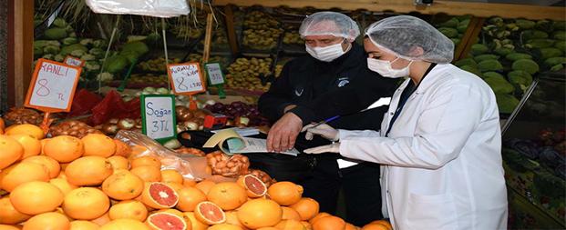 Aydın'da 2020 yılında 25 bin 253 gıda denetimi yapıldı