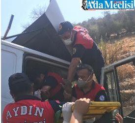 kamyonun sürücüsü yaralandı