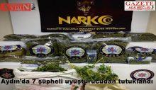 Aydın'da 7 şüpheli uyuşturucudan tutuklandı