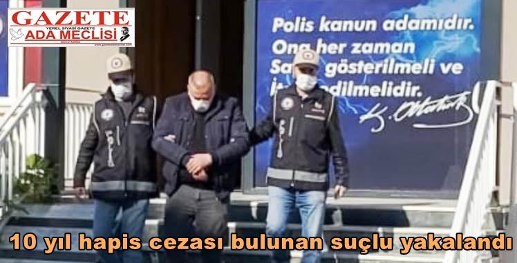 10 yıl hapis cezası bulunan suçlu yakalandı 29.11.2020 10:50:27 Aydın / Asayiş / 20201129AW177686