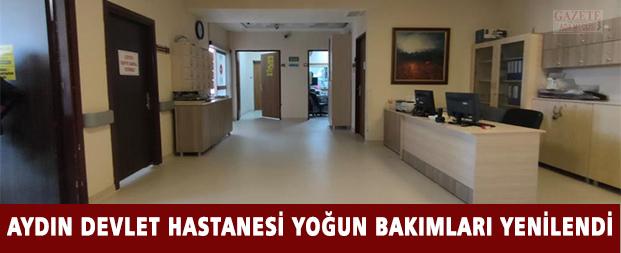 Aydın Devlet Hastanesi yoğun bakımları yenilendi