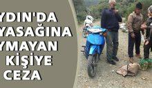 Aydın'da av yasağına uymayan 7 kişiye ceza