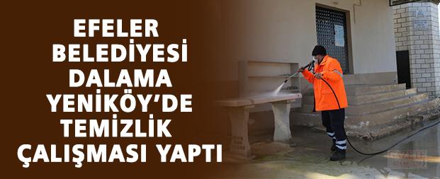 Efeler Belediyesi, Dalama Yeniköy'de temizlik çalışması yaptı