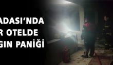 Kuşadası'nda bir otelde yangın paniği
