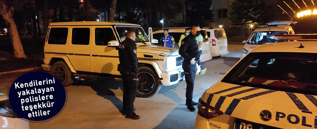 Kendilerini yakalayan polislere teşekkür ettiler
