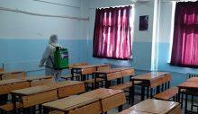 Aydın'da okullarda dezenfeksiyon çalışmaları devam ediyor