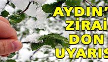 Aydın'ın iç kesimlerine zirai don uyarısı