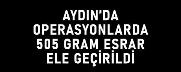 Aydın'da operasyonlarda 505 gram esrar ele geçirildi