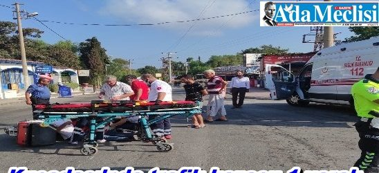 Kuşadası'nda trafik kazası: 1 yaralı